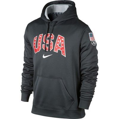Team USA - Nike USA Knockout Pullover Performance Hoodie - Anthracite
