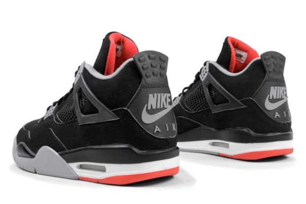 """The """"Bred"""" Air Jordan 4 With Nike Air Branding Is Rumored to Release in 2019"""