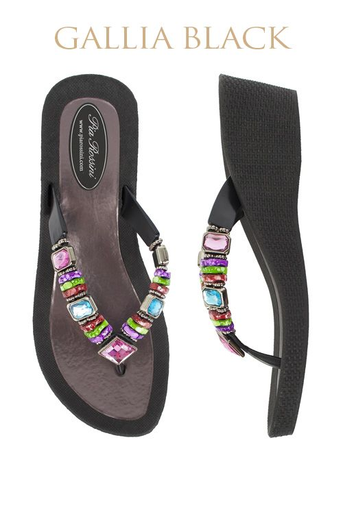 Gallia Ultimate Pool Shoe - Black Base  Available from www.piarossini.com #PiaRossini #UltimatePoolShoe #Pool #Shoes #Sandal #Beach #Cruise #Comfort #Resort