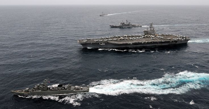 """10-24-2017  After drills off the coast of the Korean Peninsula, the USS Ronald Reagan carrier strike group has docked in South Korea. The carrier strike group, which just completed five days of drills with South Korea, pulled into port at Busan on Saturday, according to USNI News. """"This port visit is the perfect ending to this…"""