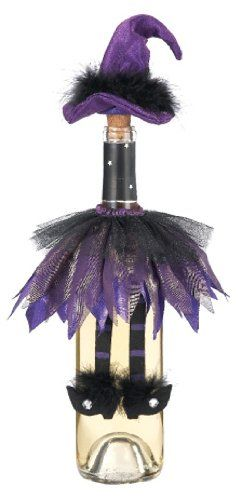 Ganz Halloween Wine Bottle Topper ~ Halloween Purple Witch Hat Decoration…