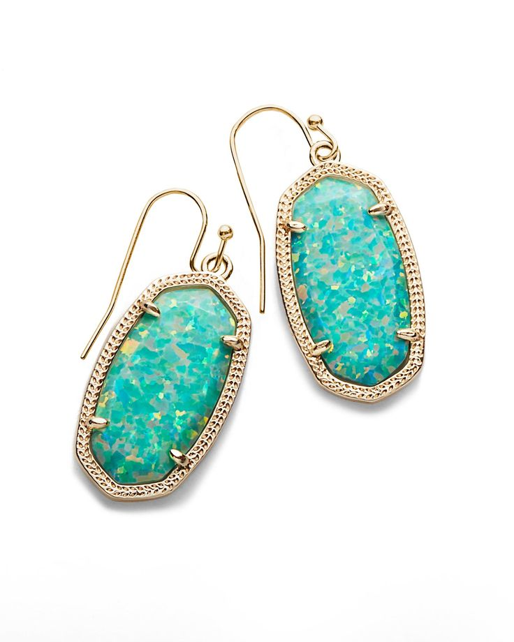 New Dani Drop Earrings In Aqua Kyocera Opal - Kendra Scott Jewelry.