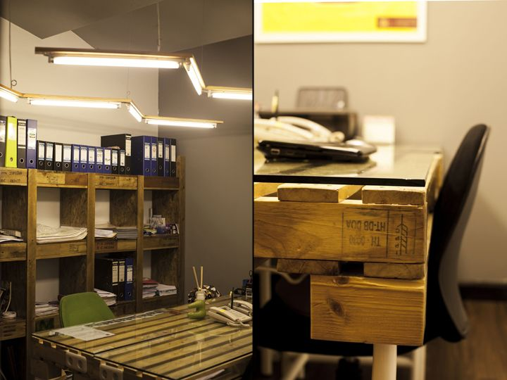 Flux design office by Dlux Interior Jakarta Indonesia  inspirative shelvings and table