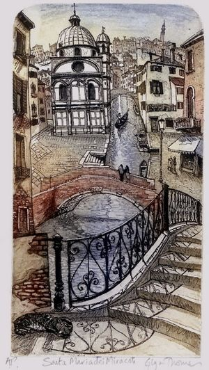 San Maria Miracoli etching 43 x 28cm £88 (unframed)