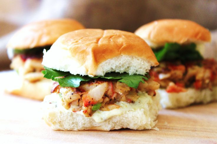 Crab Cake Sliders: If you're itching for crabs, these gourmet crab cake sliders will quell your craving. Slather on some homemade tartar sauce and watch them disappear.