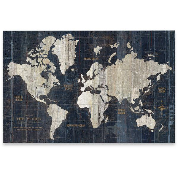 The 25 best old world maps ideas on pinterest vintage world old world map wall art in blue 50 liked on polyvore featuring home gumiabroncs Gallery
