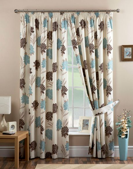75 best images about home inspiration on pinterest - Brown and light blue curtains ...