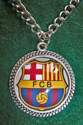 FC Barcelona soccer teams pendant  sport by sportpendants on Etsy