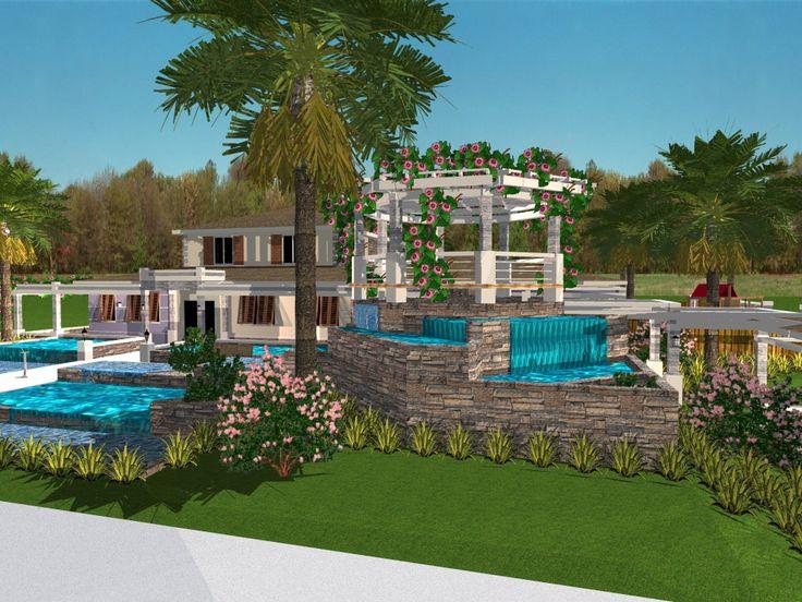 Beautiful Outdoor Living Space - Created in TurboFloorPlan Home & Landscape Pro v16 by Robert De Jesus Perez | #Landscape #Design #3D