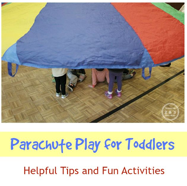 Parachute Games for Toddlers - Teaching 2 and 3 Year Olds