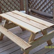 How to Build a Kids Picnic Table Plans | eHow