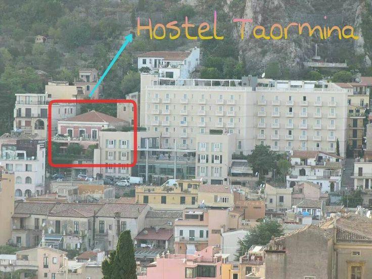 Hostel Taormina seen from the Greek Theatre