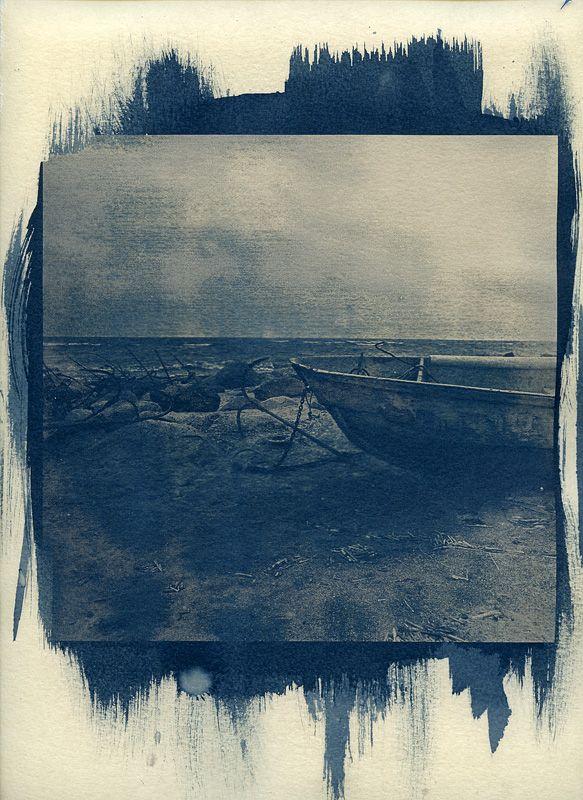 Boat. Cyanotype print by urbantrip on deviantART