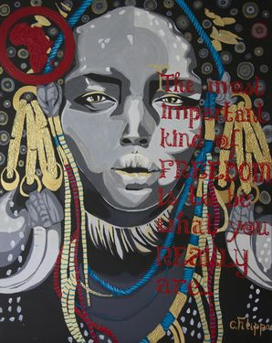 "Saatchi Online Artist CHRISTINA FILIPPA; Painting, ""The Most Important Kind Of FREEDOM..."" #art"