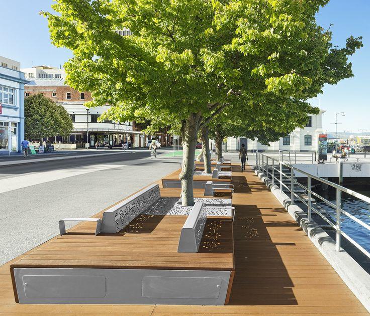 Hobart Waterfront - Platform Bench | Landscape design ...