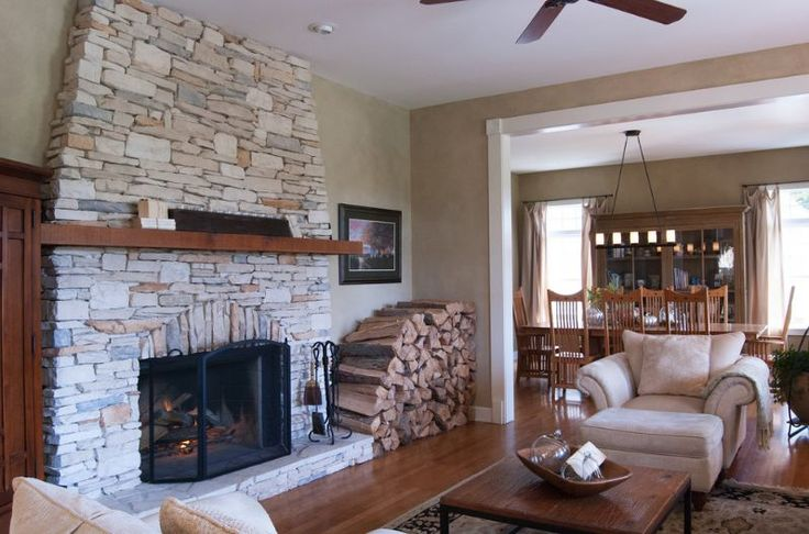 Wood logs storage closer to fireplace