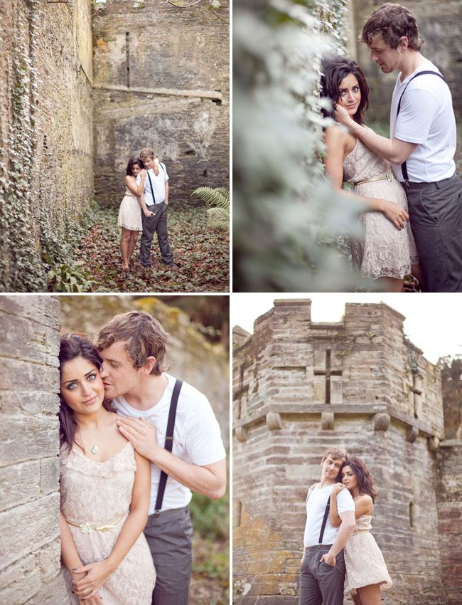 Old church?  Castle?   Whatever it is makes a great venue to do engagement shots.