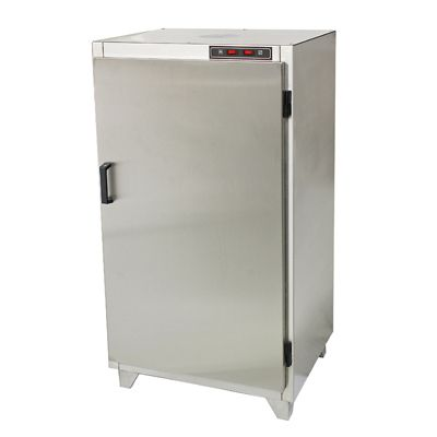 SI-30 Industrial Biltong Drying Cabinet. Full stainless steel construction  Preset temperature control to avoid tampering.  A powerful extraction fan.   Internal volume of 245 litres and a capacity for 25 kg of wet meat . Normal drying time for a full load is around 2-4 days depending on the degree of dryness you want to achieve.  Smaller loads dry quicker and turn around is sometimes faster.