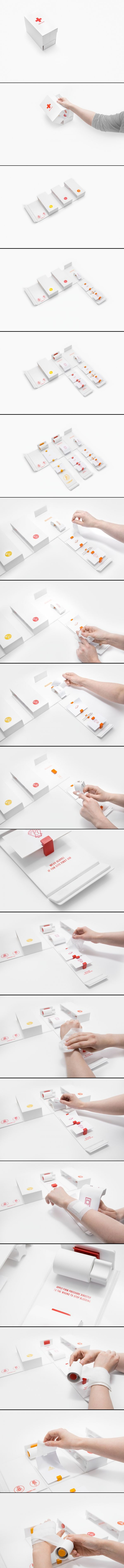 DIY FIRST AID Kit #packaging by GABRIELE MELDAIKYTE for you @Antònia Calafat Capó curated by Packaging Diva PD