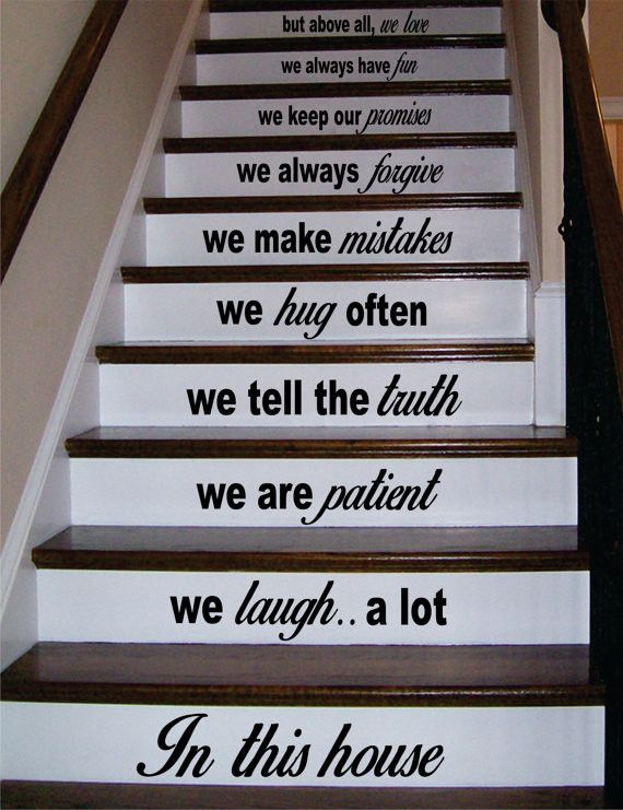 In This House Stairs Version 3 Decor Decal Sticker Wall Vinyl Art