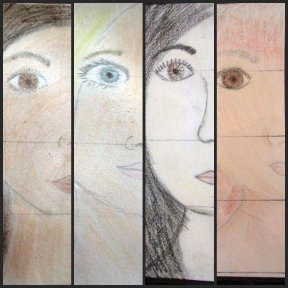 Under de första veckorna på terminen har vi gjort självporträtt med eleverna i åk 3-6