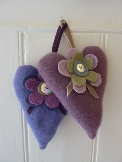 hearts & flowers lavender bags for my home grown lavendar..project for 2013.