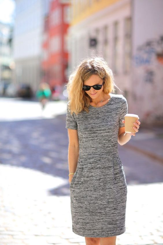 Dear Stitch Fix Stylist, My kind of dress! Comfy, but not boxy. I can easily dress this up with necklaces. The pockets are a bonus. Where can I find this? Gray looks fresh to me!