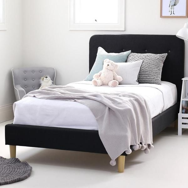 Best Harlow King Single Upholstered Bed Bedroom Villa 400 x 300