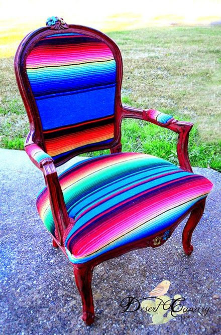 Desert Canary Design | Bright Serape Chair | Southwestern | Furniture | The Big and Bright
