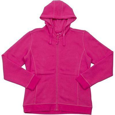 3HJ1 JB's Ladies Full Zip Fleecy Hoodie - HOT PINK - Sz 8 - 24 Two front pockets