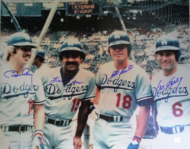 Los Angeles Dodgers -- Ron Cey, Davey Lopes, Bill Russell, Steve Garvey -- 1970's, 1980's Infield.