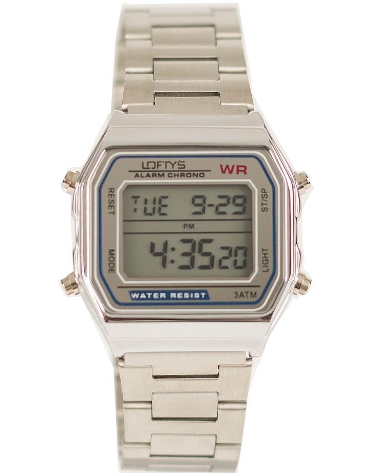 Classic Digital Watch with Silver Metal Bracelet Y 2004SL - https://www.loftyswatches.com/shop/classic-digital-watch-silver-metal-bracelet-y-2004sl/