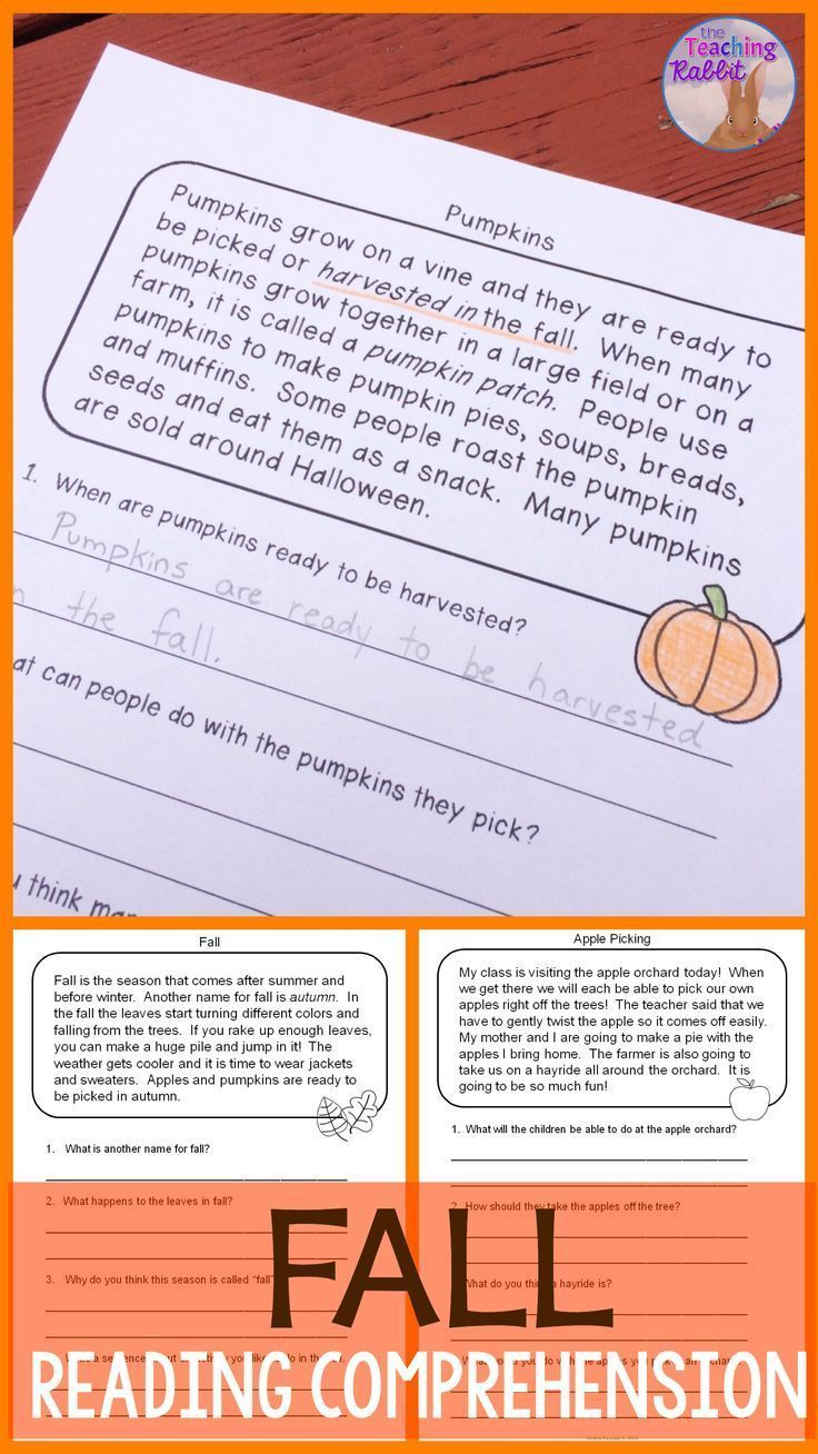 These Fun Fall Reading Passages Can Help Primary Students Develop Comprehension Reading Comprehension Passages Fall Reading Comprehension Reading Comprehension [ 1308 x 736 Pixel ]