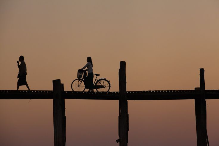 Sunset at U Bein bridge. Photo: John Einar Sandvand.  More photos: http://sandvand.net/photography-in-myanmar-meeting-the-sun-at-u-bein-bridge/