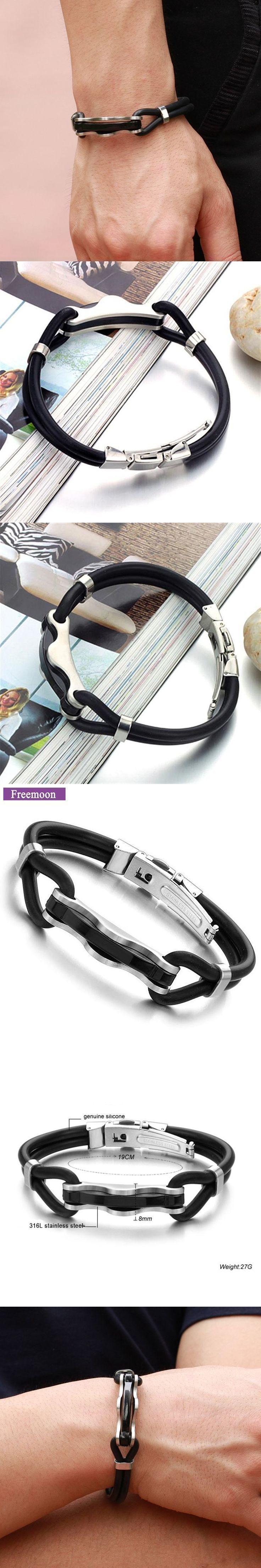Fashion Jewelry Stainless Steel Anchor Bracelet Black Leather Charm Bracelets Men Jewelry Party Gift #men'sjewelry