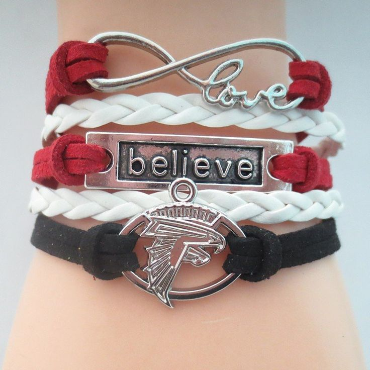 Love Atlanta Falcons Believe Bracelet - Free Shipping