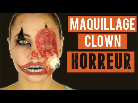 Maquillage Clown Horreur en 3D pour HalloweenColashood2