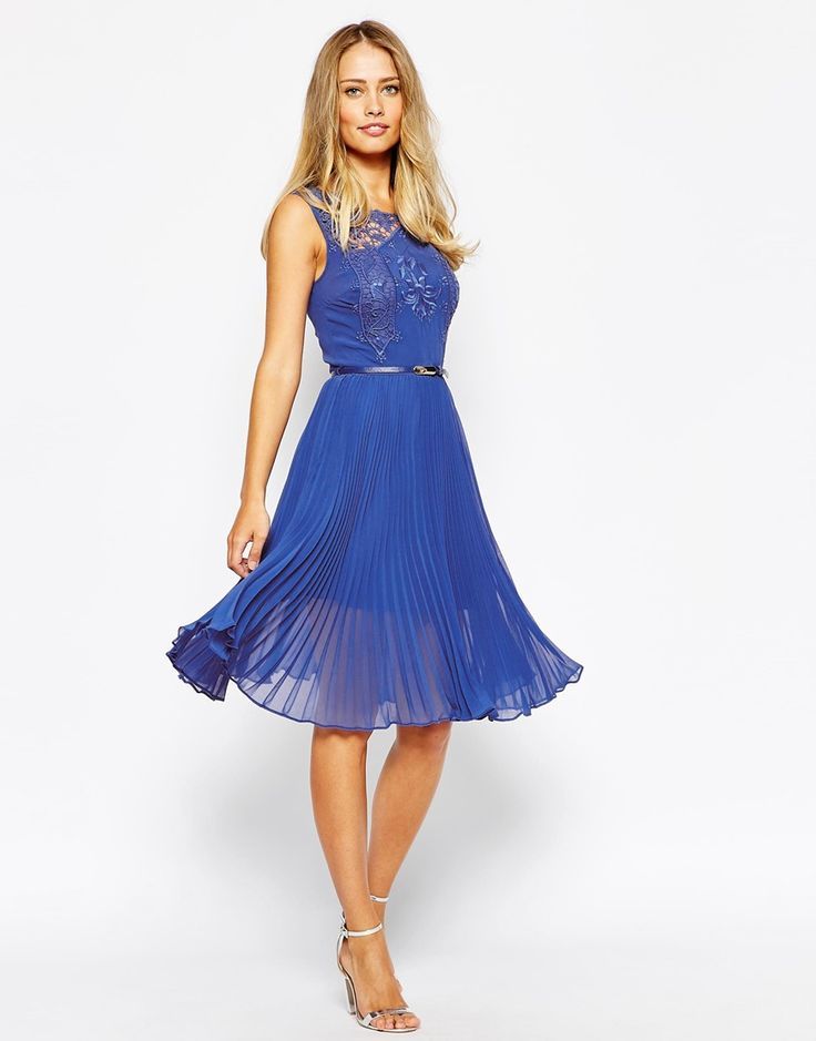 Blue dress for wedding guests 2015