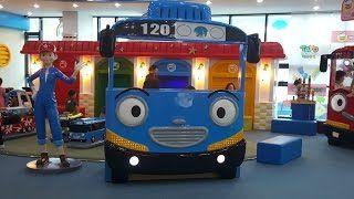 꼬마버스 타요 키즈 카페. 어린이 놀이터 테마파크. Tayo Bus Kids Playground Amusement Детская игровая комната Тайо - YouTube