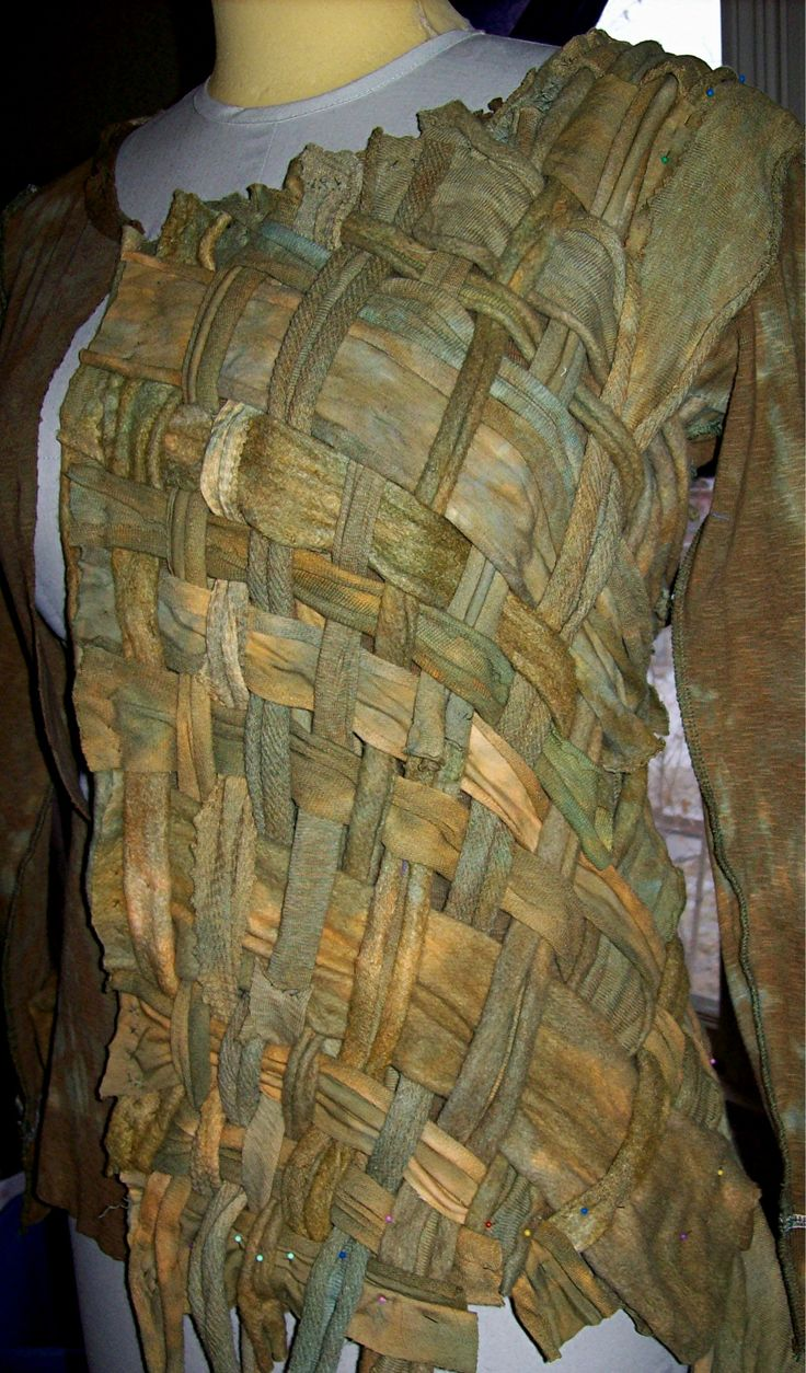Jacket of LWI HandDyed Layered Hemps, work in progress...mainly hand stitched & mostly hemp fleece...the weave.