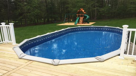 17 Best Ideas About Oval Above Ground Pools On Pinterest