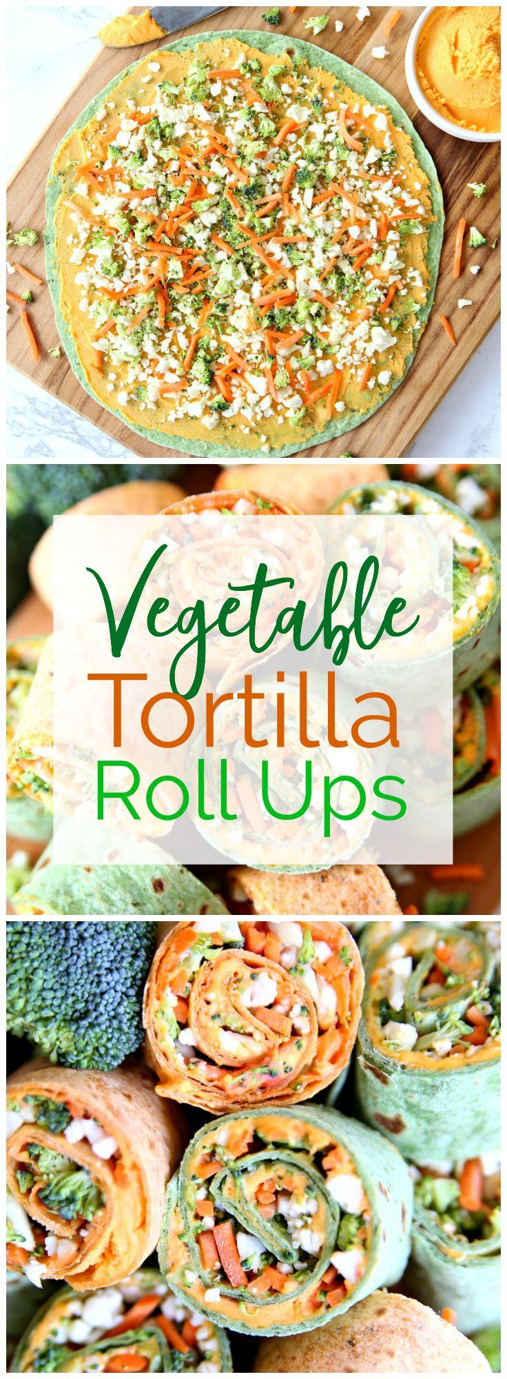 Vegetable Tortilla Roll Ups - Happy-Go-Lucky