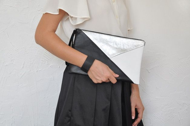 Clutches – Leather Clutch, Leather Handbag – a unique product by Vioviolla on DaWanda