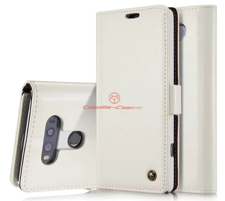 CaseMe 003 LG G20 Magnetic Flip Leather Wallet Case White