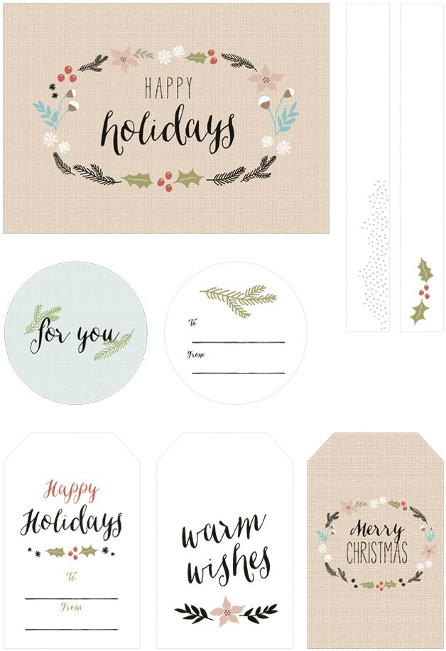 free illustrated gift tags