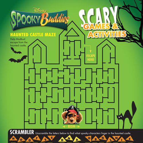 Spooky Buddies Printable Halloween Activity Sheet