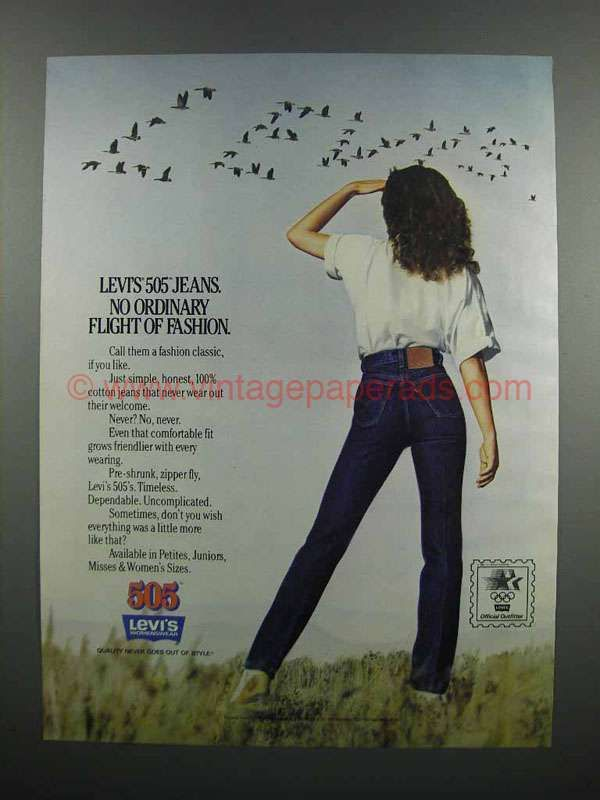 1983 Levi's 505 Jeans Ad - Flight of Fashion