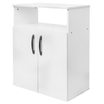 Mueble microondas 2 puertas y 2 estantes mueble de for Mueble 10 cm fondo