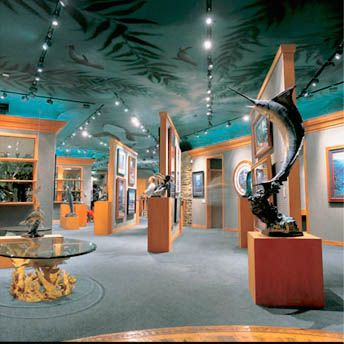 Inside Wyland Galleries, Laguna Beach, California