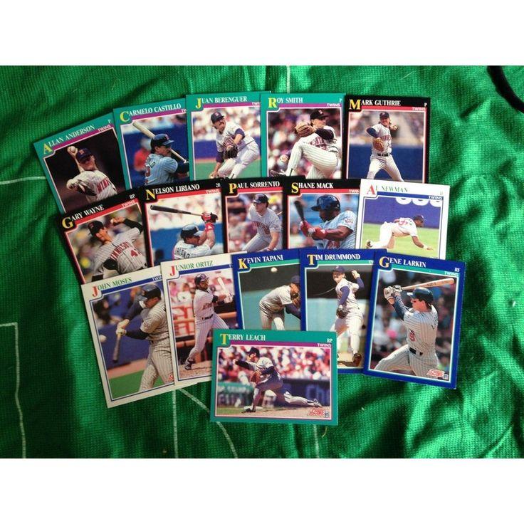 MLB Baseball Trading Cards x 16 Score 1991 Set Minnesota Twins